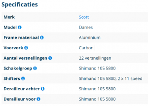 Specificaties scott mamazetkoers.nl