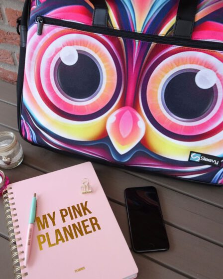 weer aan het werk laptoptas en planner-