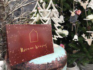 voorkant kaart kerstkaart versturen mamazetkoers verhuisbericht