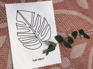 poster sticker plant rebelz mamazetkoers