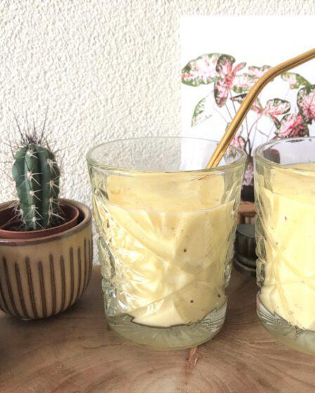 gezonde smoothie met mango