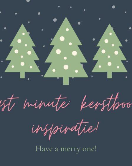 Last minute kerstboom inspiratie!